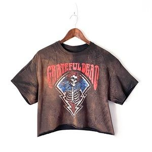 The Grateful Dead Bleached Out 'Bertha' Band Crop